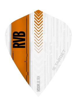 RVB Vision Ultra Flights White/Orange - Kite