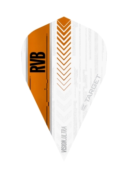 RVB Vision Ultra Flights White/Orange - Vapor
