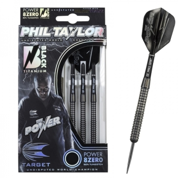 Power 8zero Black Titannium 23g Steel Darts
