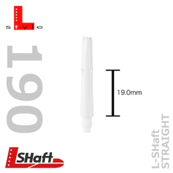 L-Style L-shaft Locked Straight White 190