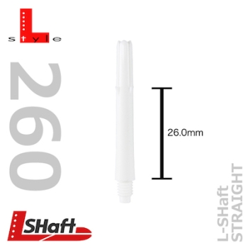 L-Style L-shaft Locked Straight White 260